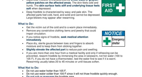 Safety Tip: What to Know About Frostbite