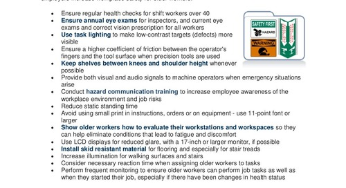 Safety Tip: How to Improve Workplace Safety for Older Workers