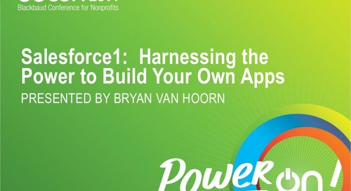 Salesforce 1: Harnessing the Power to Build Your Own Apps