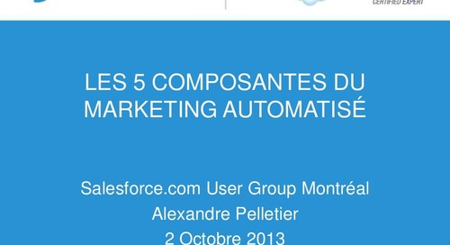 Les 5 composantes du marketing automatisé