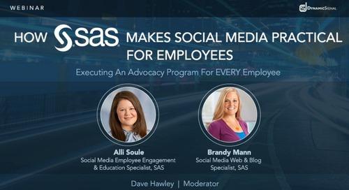 How SAS Makes Social Media Practical for Employees