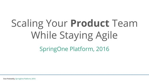 Scaling Your Product Team While Staying Agile