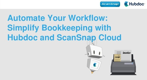 Automate Your Workflow: Simplify Bookkeeping with Hubdoc and ScanSnap Cloud