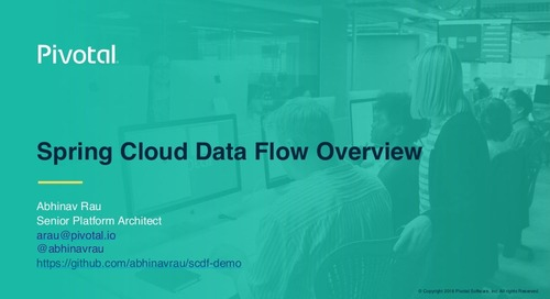 Spring Cloud Data Flow Overview