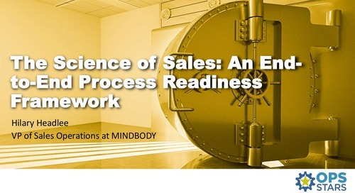 The Science of Sales – End to End Process Readiness Framework