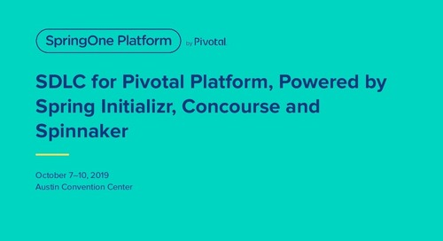 SDLC for Pivotal Platform powered by Spring Initializr and Concourse