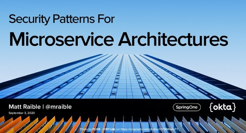 Security Patterns for Microservice Architectures