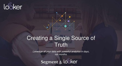 Creating a Single Source of Truth: Leverage all of your data with powerful analytics in days, not months.