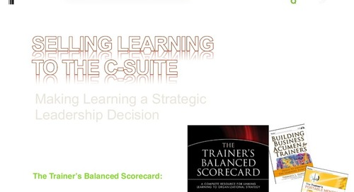 Webinar Slides: Selling Learning to the C-Suite