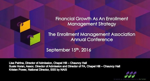 Financial Aid Growth as an Enrollment Management Strategy