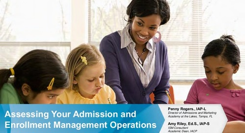 Assessing Your Admission and Enrollment Management Operations