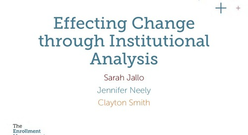 Effecting Change Through Institutional Analysis