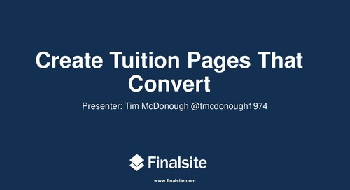 Creating Independent School Tuition Pages that Convert