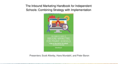The Inbound Marketing Handbook for Independent Schools