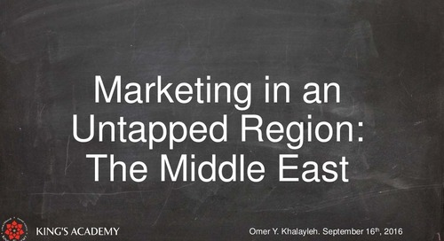 Marketing in an Untapped Region – The Middle East