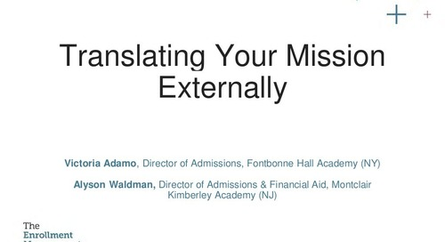 Translating Your Mission Externally