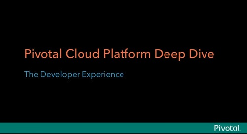 Pivotal CenturyLink Cloud Platform Seminar Presentation: The Developer Experience