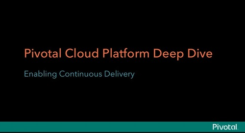 Pivotal CenturyLink Cloud Platform Seminar Presentations: Enabling Continuous Delivery