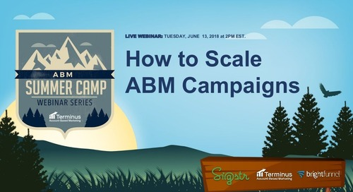 [Webinar Slides] How to Scale ABM Campaigns