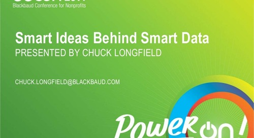 Smart Ideas Behind Smart Data