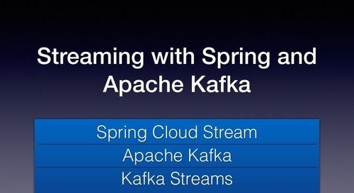 Streaming with Spring Cloud Stream and Apache Kafka - Soby Chacko