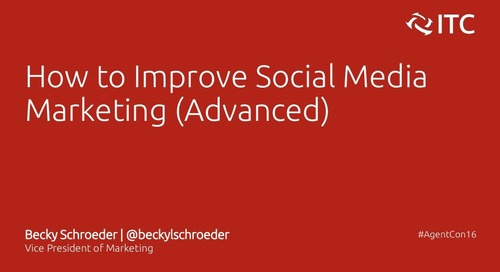 How to Improve Social Media Marketing - Becky Schroeder