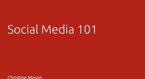 Social Media 101 - Christine Mason, ITC