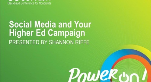 Social Media and Your Higher Education Campaign
