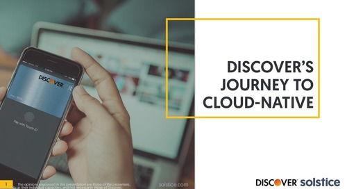 Discover's Journey to Cloud Native