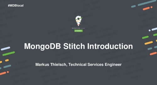 Tutorial: Building Your First App with MongoDB Stitch