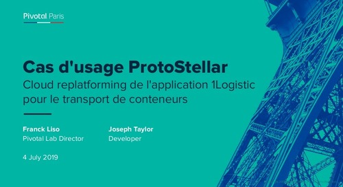 Cas d'usage ProtoStellar Cloud replatforming de l'application 1Logistic pour le transport de conteneurs