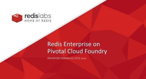 Redis Enterprise on Pivotal Cloud Foundry