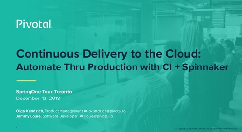 Continuous Delivery to the Cloud: Automate Thru Production with CI + Spinnaker
