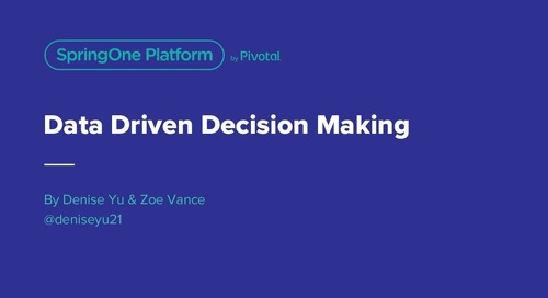 Data Driven Decision Making for Product Development