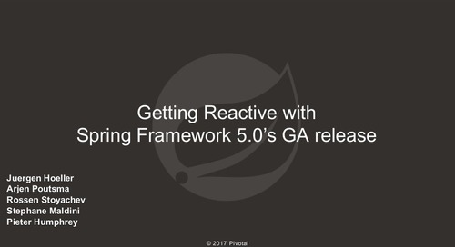 Getting Reactive with Spring Framework 5.0's GA release