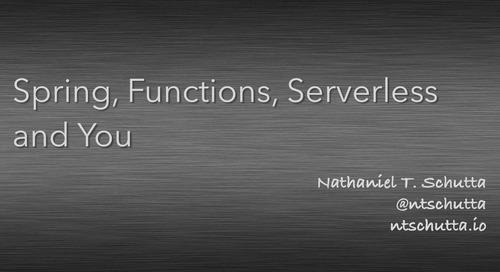 Serverless Spring - Nate Schutta 1/2