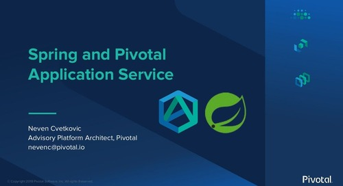 Spring Boot & Spring Cloud on Pivotal Application Service