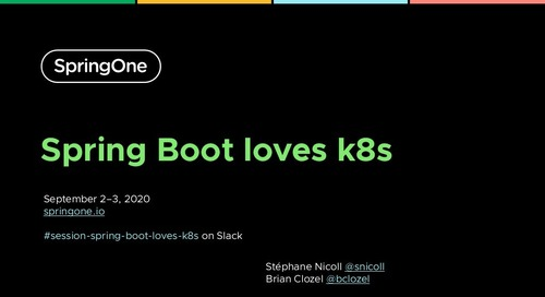 Spring Boot Loves K8s