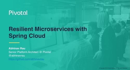 Resilient Microservices with Spring Cloud