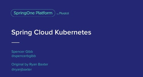 Spring Cloud Kubernetes - Spencer Gibb