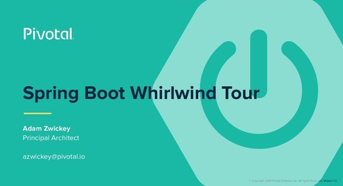 Spring Boot Whirlwind Tour
