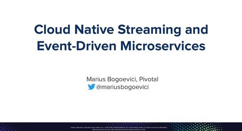 Cloud-Native Streaming and Event-Driven Microservices