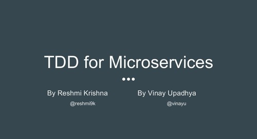 TDD for Microservices