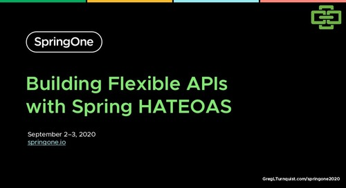 Building Flexible APIs with Spring HATEOAS
