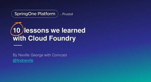 10 Lessons We Learned with Cloud Foundry
