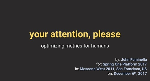Your Attention, Please: Optimizing Metrics for Humans