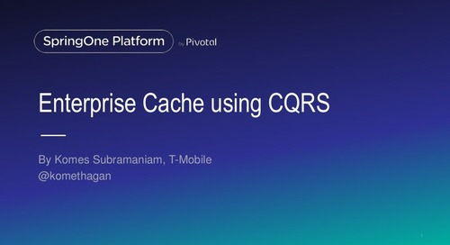 Building Enterprise Cache based on CQRS