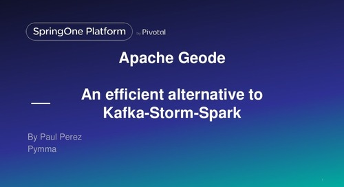 Apache Geode: an efficient alternative to Kafka-Storm-Spark for Data Analytic