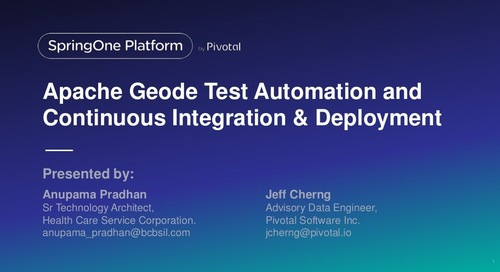 Apache Geode Test Automation and Continuous Integration & Deployment (CI-CD)