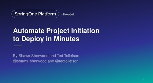 Automate Project Initiation to Deploy in Minutes